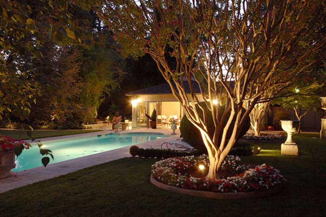 Landscape lighting fencing charlotte nc ground control of enhance the look of your yard or garden aloadofball Gallery